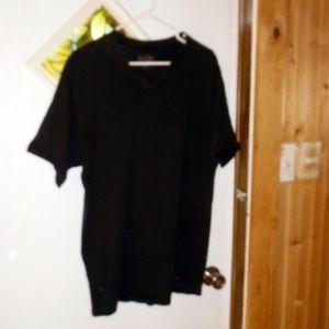 Calvin Klein Tshirt short sleeve v neck XL black